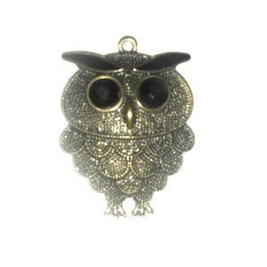 Jewelry - Gold Colored Owl Necklace Charm